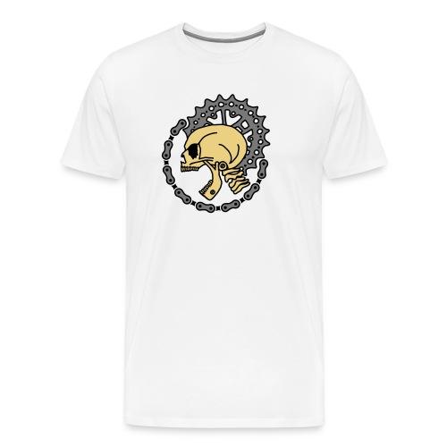 Skull Bike Punk - 3-farbig - Männer Premium T-Shirt