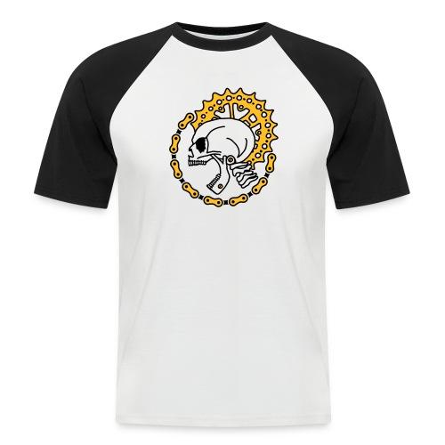Skull Bike Punk - 3-farbig - Männer Baseball-T-Shirt