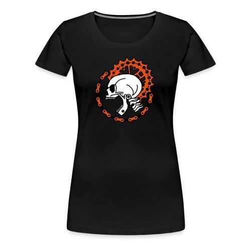 Skull Bike Punk - Frauen Premium T-Shirt