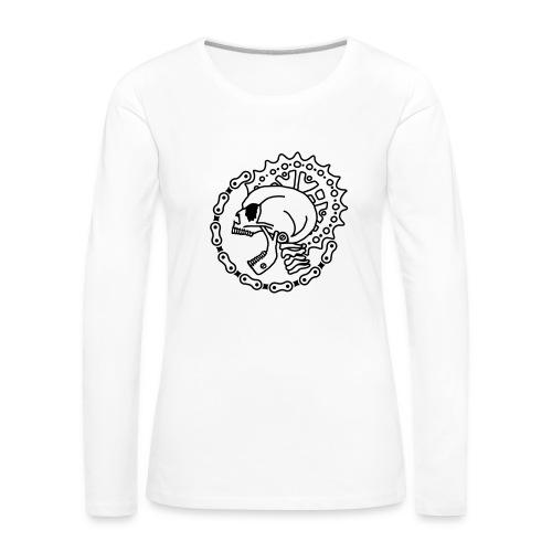 Skull Bike Punk - 1-farbig - Frauen Premium Langarmshirt