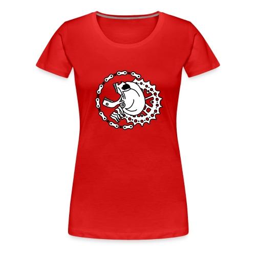 Skull Bike Punk - 2-farbig - Frauen Premium T-Shirt