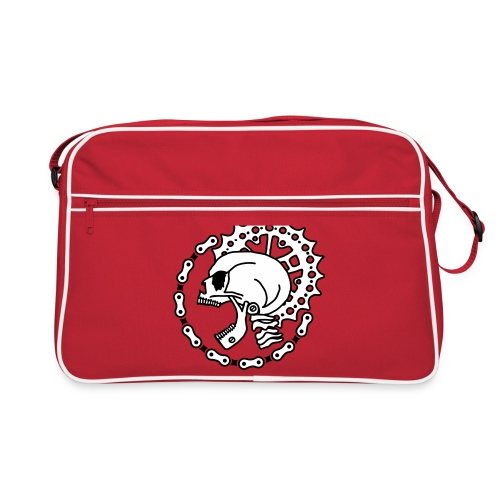 Skull Bike Punk - 2-farbig - Retro Tasche