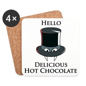Hello Delicious Hot Chocolate Coasters - Coasters (set of 4)