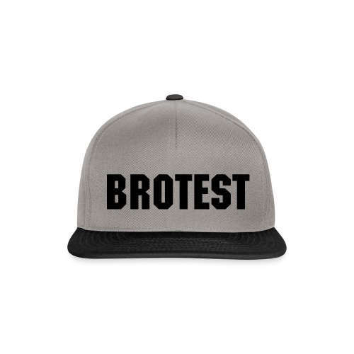 BROTEST - Snapback-Cap - grey/black - Snapback Cap