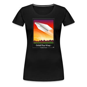 Travel by Paper Plane - Vrouwen Premium T-shirt