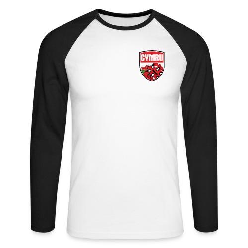 Wales Baseball Tee Black - Men's Long Sleeve Baseball T-Shirt