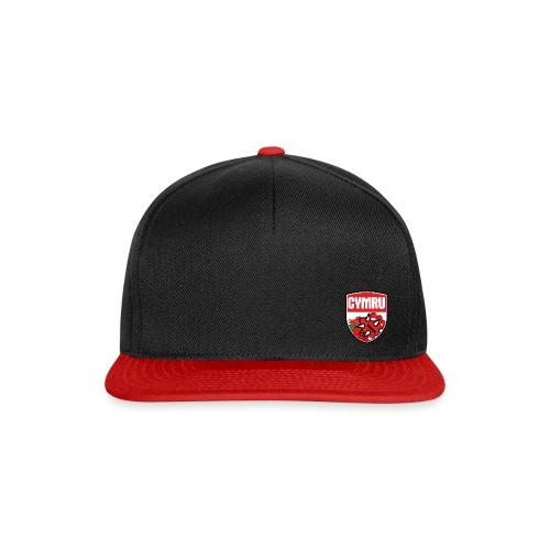 Wales Cap Black & Red - Snapback Cap
