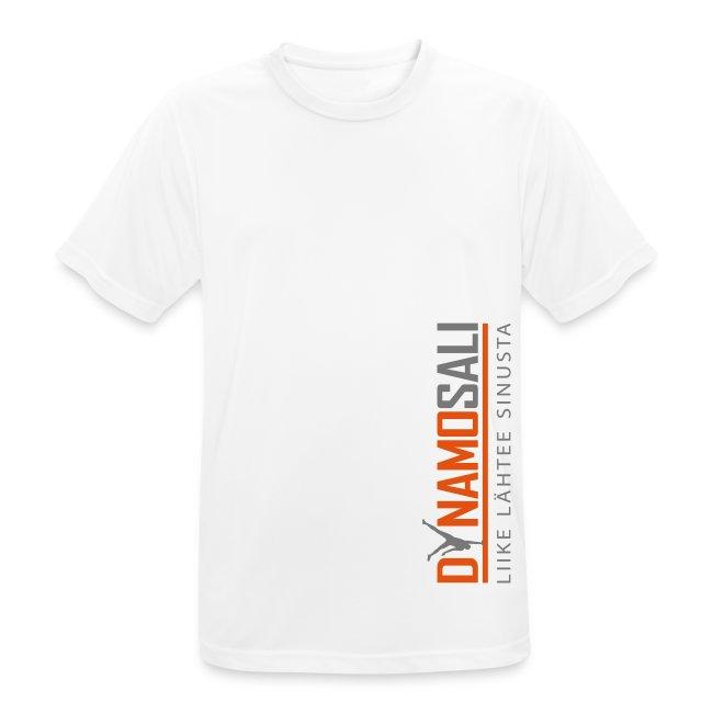 Miesten valkoinen tekninen t-paita