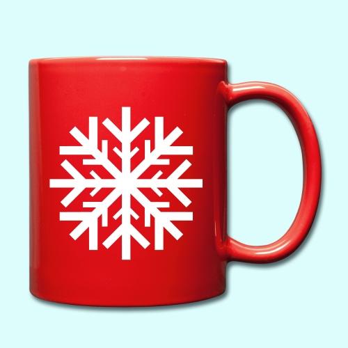 Schneeflocke Tasse - Tasse einfarbig
