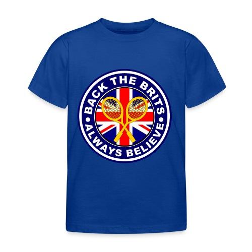 Back The Brits - Kids T-shirt - Blue. - Kids' T-Shirt