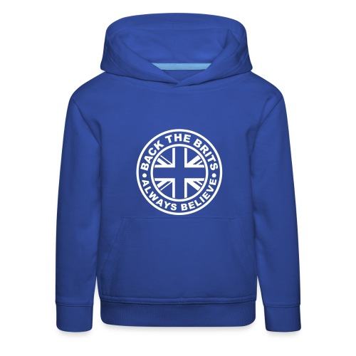 Back The Brits - Kids Hoodie - Blue. - Kids' Premium Hoodie