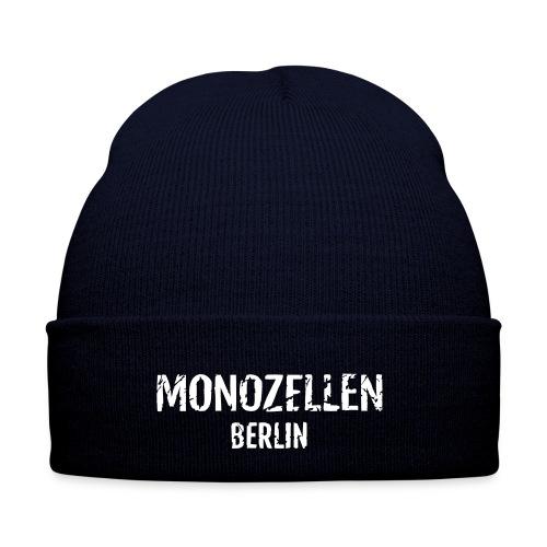 Monozellen Wollmütze, blau - Wintermütze