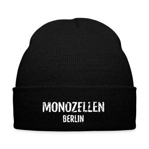 Monozellen Wollmütze, schwarz - Wintermütze