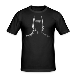 Batman black & white Männer 2 T-Shirt - Männer Slim Fit T-Shirt