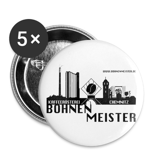 Die Bohnenmeister Buttons 5er Pack - Buttons groß 56 mm