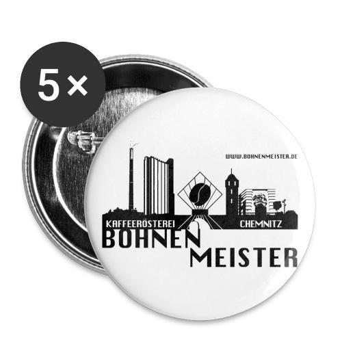 Die Bohnenmeister Buttons 5er Pack - Buttons groß 56 mm (5er Pack)