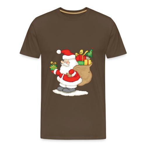 Le pere noel avec son sac à cadeaux - T-shirt Premium Homme