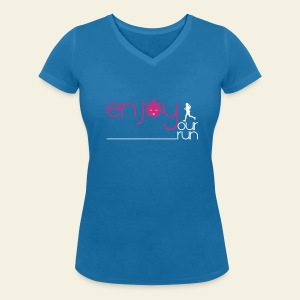 Enjoy your run Femme - T-shirt bio col V Stanley & Stella Femme