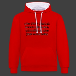 Sometimes - Contrast Colour Hoodie