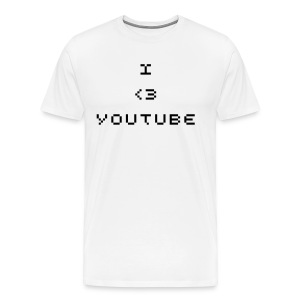 I love youtube top - Men's Premium T-Shirt