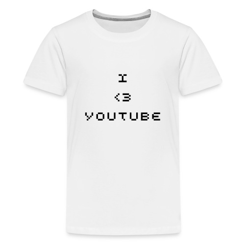 White I love youtube shirt - Teenage Premium T-Shirt