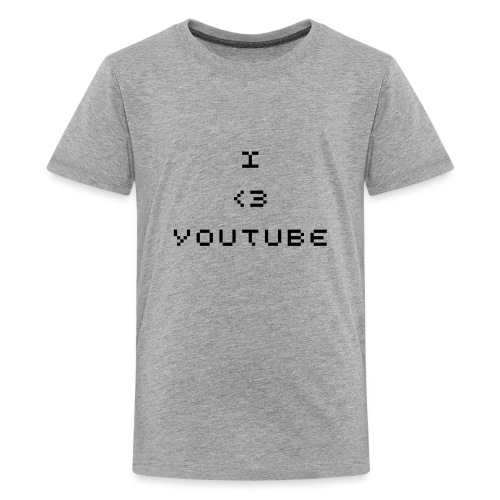 I love youtube grey top - Teenage Premium T-Shirt