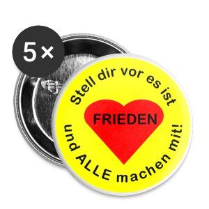 Weltfrieden für ALLE - Buttons groß 56 mm