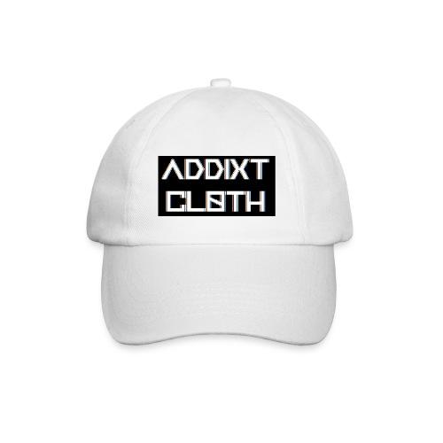 ADDIXT CLOTH LOGO | BLACK ON WHITE | UNISEX HAT - Baseball Cap