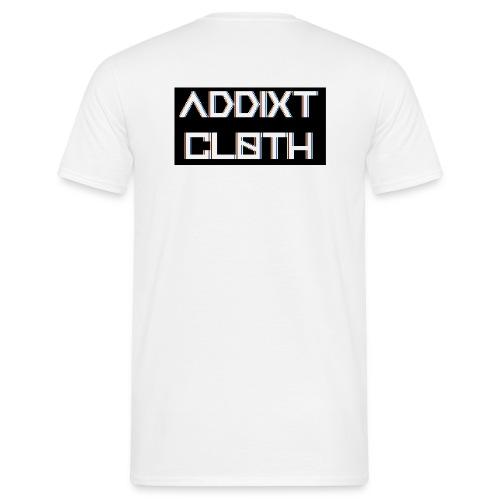 B&B ADDIXT CLOTH (Men's) White T-Shirt - Men's T-Shirt
