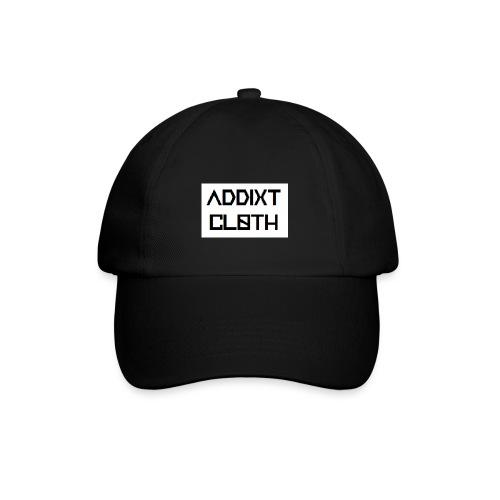 ADDIXT CLOTH LOGO | WHITE ON BLACK | UNISEX HAT - Baseball Cap