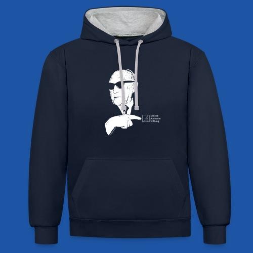Unisex Pullover mit Kapuze - Kontrast-Hoodie