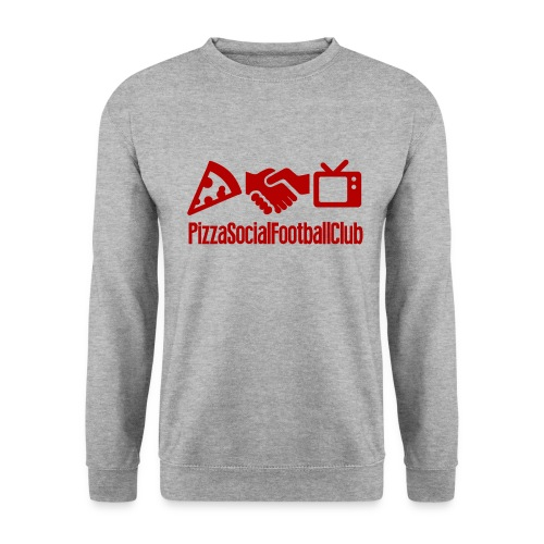 Pull PSFC Gris/Rouge - Grand logo - Sweat-shirt Homme