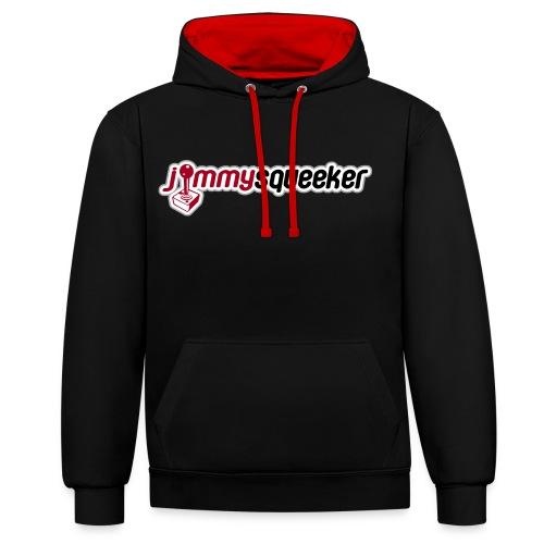 Jimmysqueeker Logo Hoodie - Contrast Colour Hoodie