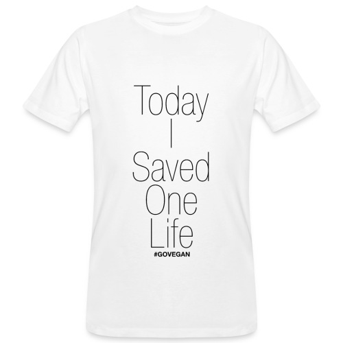 Today I saved one Life! - Männer Bio-T-Shirt