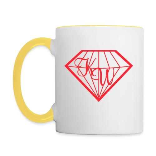 Diamond Mug Yellow - Tasse zweifarbig