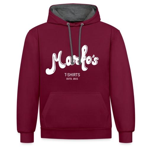 Marko's - Sweatshirt Deluxe - Contrast Colour Hoodie
