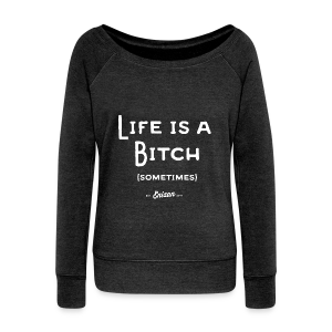ENIZAN Life is a Bitch - Pull Femme col bateau de Bella