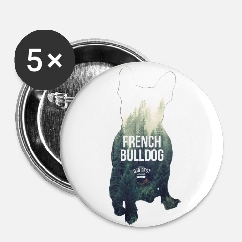 Herbst-Bully - Buttons mittel 32 mm (5er Pack)