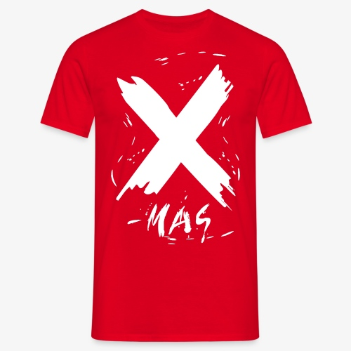 X-Mas Christmas Merry Schnee Snow broken font Text 1c t-shirt rot alle Farben - Männer T-Shirt
