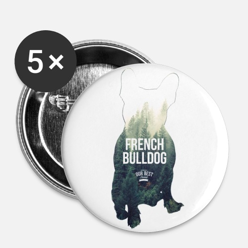 Herbst-Bully - Buttons groß 56 mm (5er Pack)