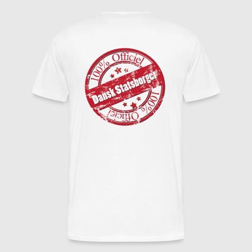 100% Officiel Dansk Statsborger - Herre premium T-shirt