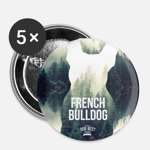 Herbst-Bully Natur - Buttons groß 56 mm (5er Pack)