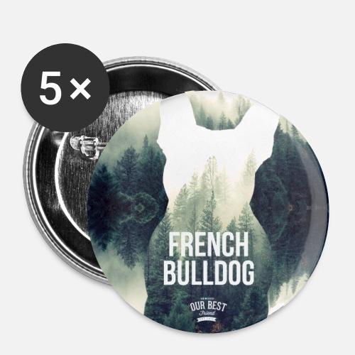 Herbst-Bully Natur - Buttons klein 25 mm (5er Pack)