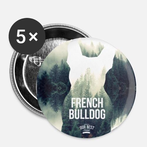 Herbst-Bully Natur - Buttons mittel 32 mm (5er Pack)