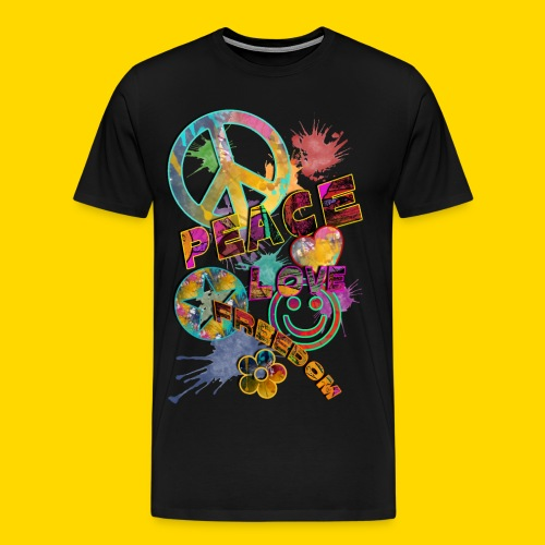 Love, Peace, Freedom Männer - Männer Premium T-Shirt