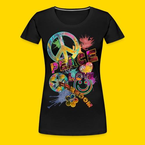 Love, Peace, Freedom Frauen - Frauen Premium T-Shirt