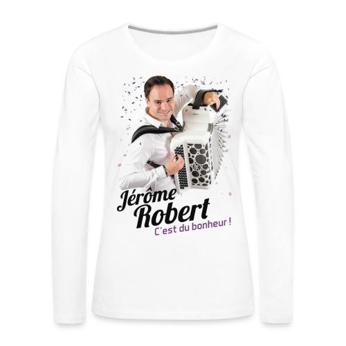 T-Shirt Blanc Manches longues - Femme - Jérôme Robert - T-shirt manches longues Premium Femme