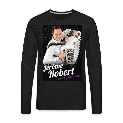 T-Shirt Noir Manches longues - Homme- Jérôme Robert - T-shirt manches longues Premium Homme