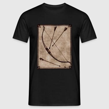 Bogen und Pfeile braun - Männer T-Shirt