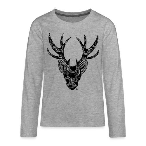 T-Shirt Ado Cerf Mandala - T-shirt manches longues Premium Ado